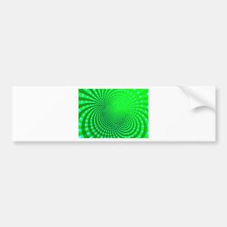 Líneas magnéticas diseño etiqueta de parachoque