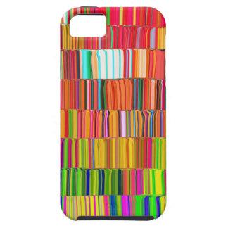 Líneas multicoloras funda para iPhone 5 tough