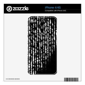 líneas negras calcomanías para iPhone 4