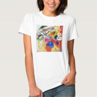 Líneas negras camiseta de Kandinsky Playera