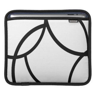 Líneas negras funda para iPads
