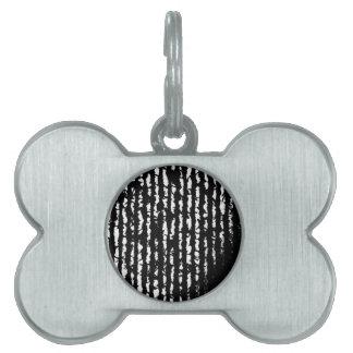 líneas negras placas mascota