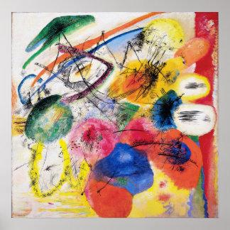 Líneas negras poster de Kandinsky