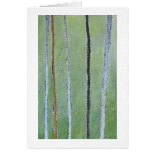 Líneas negras y blancas en la pintura abstracta ve tarjetas