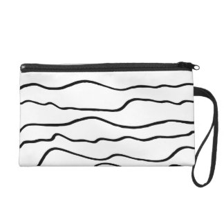 Líneas onduladas blancos y negros mitón