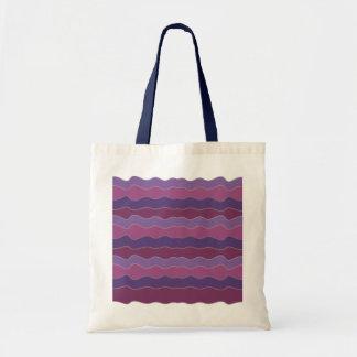 Líneas onduladas bolso de la púrpura
