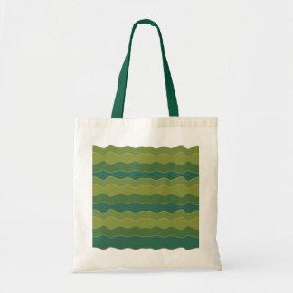 Líneas onduladas bolso verde