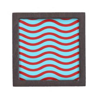 Líneas onduladas modelo de la turquesa roja del tr caja de regalo de calidad