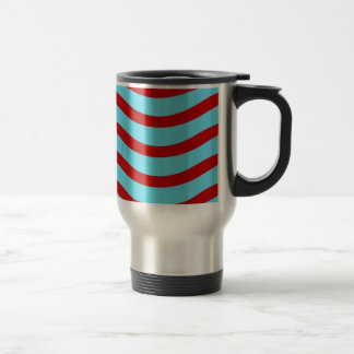 Líneas onduladas modelo de la turquesa roja del tr taza