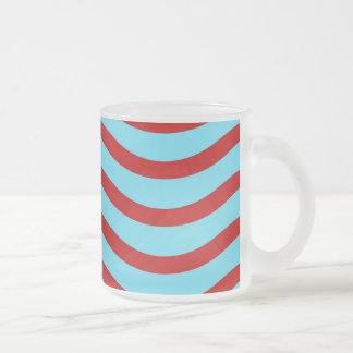 Líneas onduladas modelo de la turquesa roja del tr tazas de café