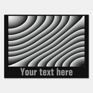 Líneas onduladas muestra de encargo del vintage de señal