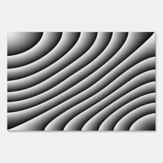 Líneas onduladas muestra decorativa del vintage de letrero