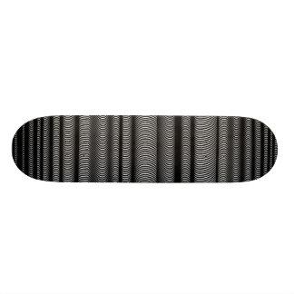 Líneas onduladas negras - en blanco tabla de patinar