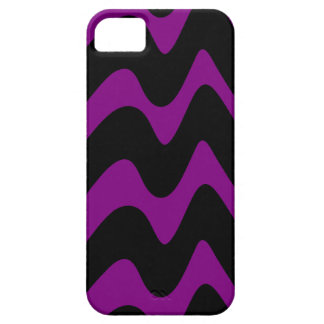 Líneas onduladas negras y púrpuras iPhone 5 Case-Mate carcasa