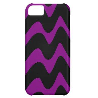 Líneas onduladas negras y púrpuras