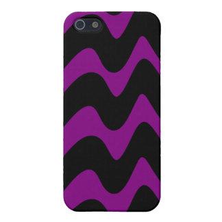 Líneas onduladas negras y púrpuras iPhone 5 cobertura
