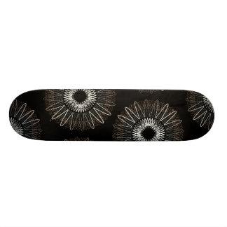 Líneas onduladas negro del modelo patinetas personalizadas
