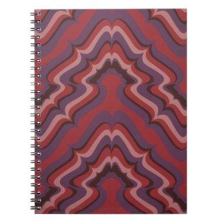 Líneas onduladas papel pintado, 1966-1968 libretas