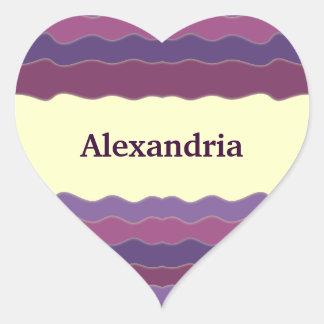 Líneas onduladas pegatina de Purple Heart