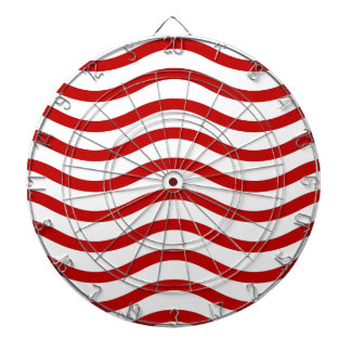 Líneas onduladas rojas y blancas regalos de la div tablero de dardos