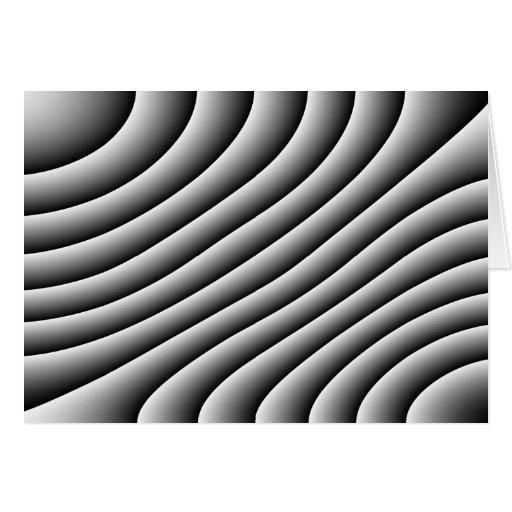 Líneas onduladas tarjeta del vintage de felicitaci