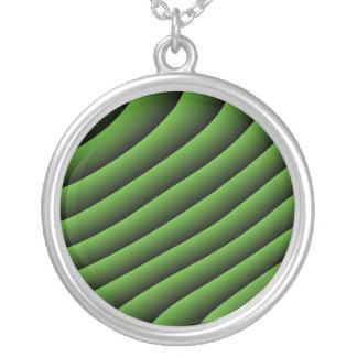 Líneas onduladas verdes hipnóticas collar