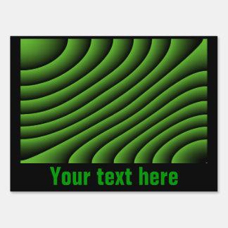 Líneas onduladas verdes hipnóticas muestra de carteles