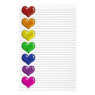 Líneas opcionales coloreadas arco iris efectos de  papeleria