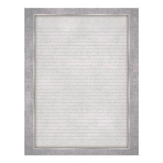 Líneas opcionales papel con membrete con el marco  membrete a diseño