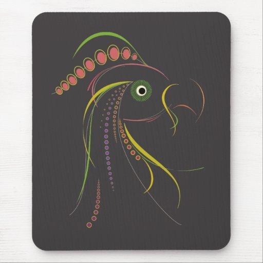Líneas oscuridad del pájaro del color mousepad