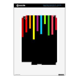 líneas paralelas rayas de la vertical del color de iPad 3 skins