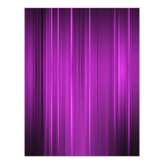 Líneas púrpuras flyer personalizado
