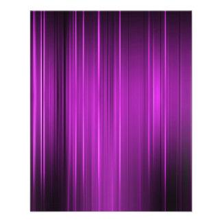 Líneas púrpuras flyer a todo color