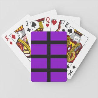 Líneas púrpuras y negras barajas de cartas