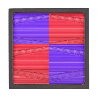 Líneas púrpuras y rojas diseño. Creación del arte Cajas De Regalo De Calidad