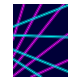 Líneas que brillan intensamente póster
