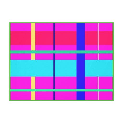 Líneas rectas lona envuelta para galerias