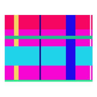 Líneas rectas tarjetas postales