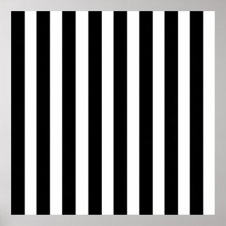 Líneas rectas verticales modelo de la raya blanca  póster