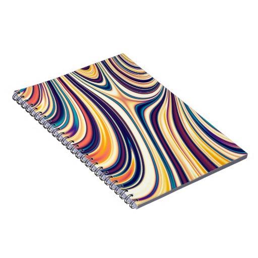 Líneas redondeadas curvadas extracto el fluir del cuaderno
