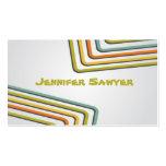 Líneas retras de la diversión - estilo 2 plantilla de tarjeta personal