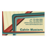 Líneas retras - estilo 4 tarjetas de negocios