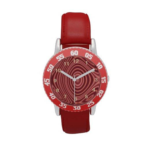 Líneas rojas modelo relojes