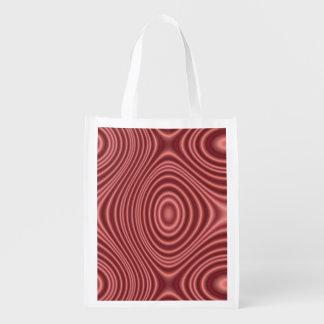 Líneas rojas modelo bolsas de la compra