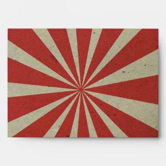 líneas rojas sobres del vintage del carnaval