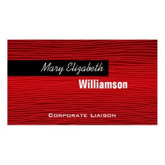 Líneas rojas tarjetas de visita profesionales mode
