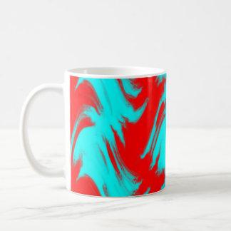 Líneas rojas taza de café