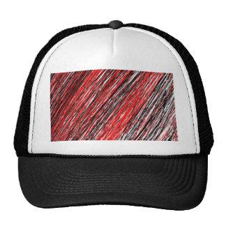 Líneas rojas y negras gorro de camionero