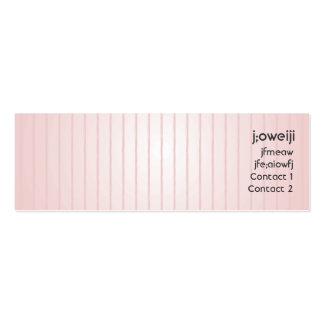Líneas rosadas - flacas tarjeta de visita