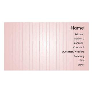 Líneas rosadas - negocio tarjetas de visita